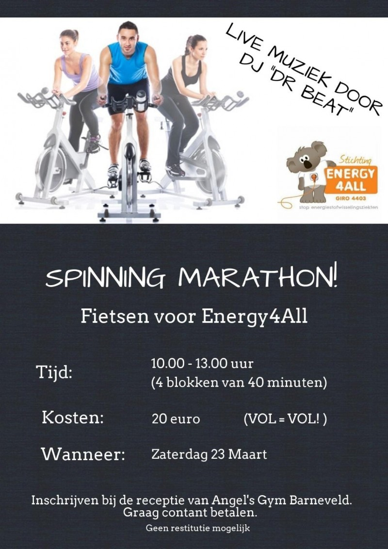 Spinningmarathon Barneveld 23maart2019 Energy4All