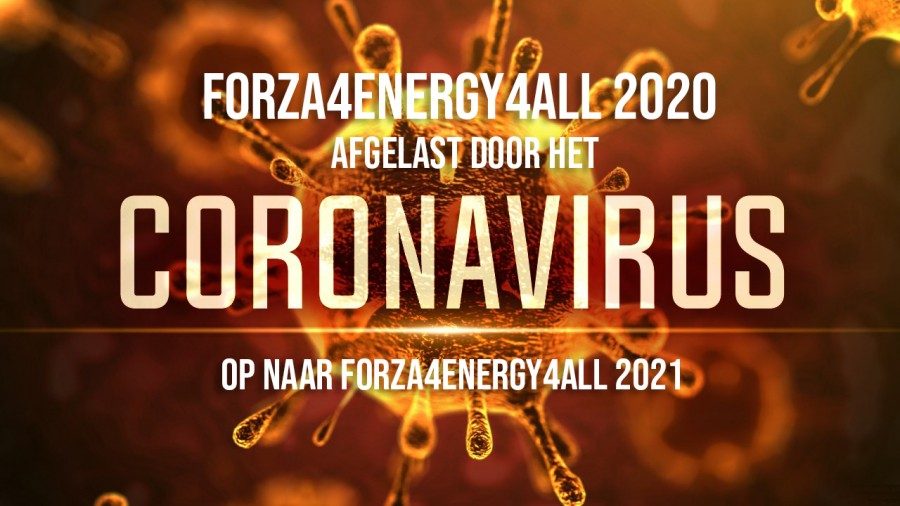 Forza4Energy4All 2020 afgelast door coronavirus